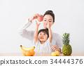 水果 成熟的女人 一個年輕成年女性 34444376
