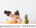水果 成熟的女人 一個年輕成年女性 34444382