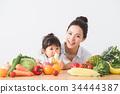 水果 成熟的女人 一個年輕成年女性 34444387