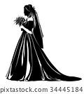 新娘 裙子 婚禮 34445184