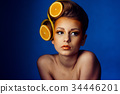 fruit, woman, hair 34446201
