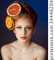 fruit, woman, hair 34446204