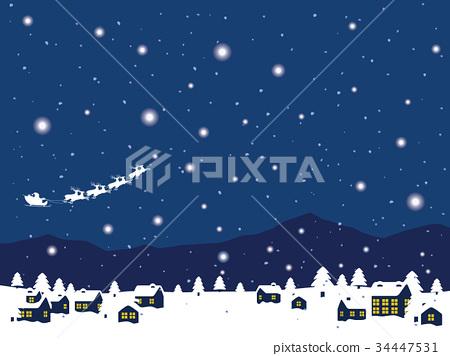 雪城市景觀 34447531