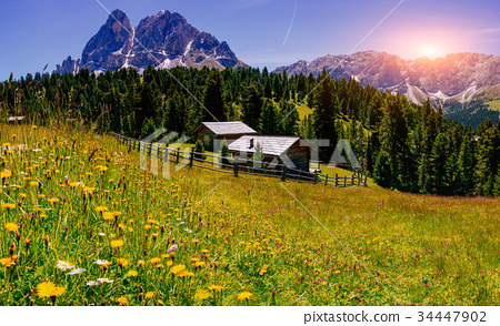 Charming house in summer sunny day 34447902