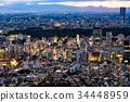 都市风景在东京的心脏 34448959