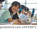 초등학교 수업 컴퓨터 34450872