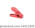 red clothspin or clothes pegs isolated on white 34451845