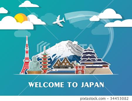 Japan Landmark Global Travel And Journey. 34453082