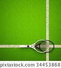 網球 球拍 球場 34453868