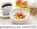 breakfast, yogurt, cofee 34455935