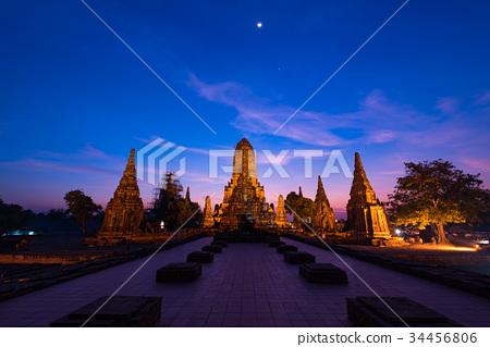Wat Chaiwatthanaram在阿尤特拉利夫雷斯,泰國 34456806