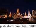 Wat Chaiwatthanaram在阿尤特拉利夫雷斯,泰國 34456809
