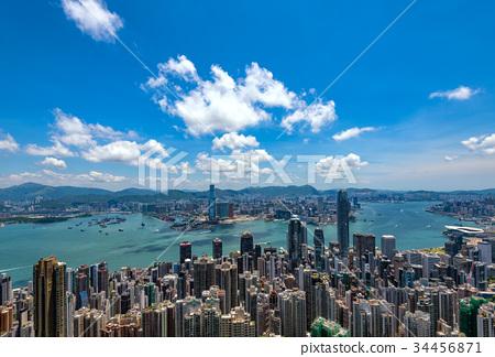 從太平山頂看到的香港風景 34456871