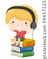 Kid Boy Listen Audio Book Head Phone 34457225