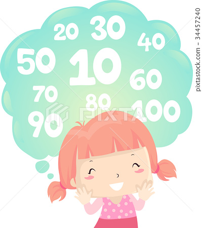 Kid Girl Math Counting By Ten 34457240