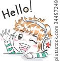 Kid Boy Headphones Wave 34457249