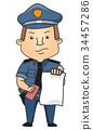 Man Police Ticket Illustration 34457286