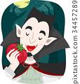 Man Tomato Vampire Illustration 34457289