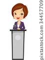 girl, business, speaker 34457709