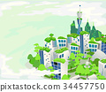 Eco Green Urban City Illustration 34457750