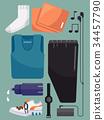 Exercise Elements Illustration 34457790
