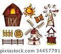 Farm Elements Illustration 34457791