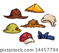 Farmer Gardener Hats Elements Illustration 34457794