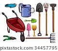 Farm Garden Tools Elements Illustration 34457795
