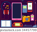 Gadgets Elements Illustration 34457799