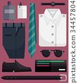 Men Fashion Elements Illustration 34457804