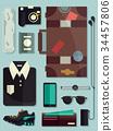 Men Travel Elements Illustration 34457806