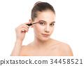 mascara, closeup, applying 34458521