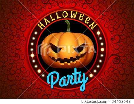 happy halloween party 34458548