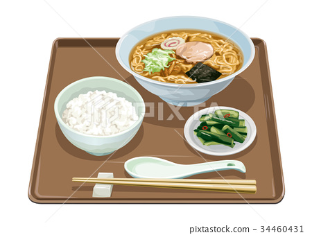chinese noodles, meal, rice 34460431