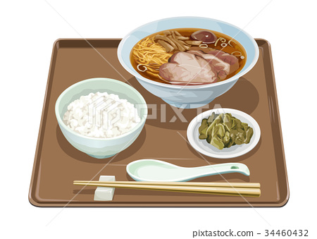 ramen with pork slices, food, foods 34460432