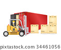 forklift cargo container 34461056