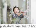 여자 비누 방울 34462327