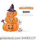 Halloween Background Vector background 34463137