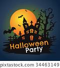 Halloween Background Vector background 34463149