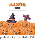 Halloween Background Vector background 34463150
