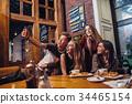 friends, selfie, eating 34465154