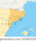 Catalonia autonomous community of Spain map 34466358