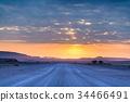 Sunrise over the Namib desert 34466491