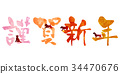 year of the dog, happy new year, gong xi fa cai 34470676