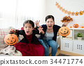 girl and mother pretend horror face 34471774