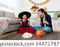 happy girl feel success and her shocked mother 34471787