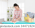 attractive beauty woman doing housekeeping 34471924