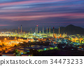 Oil and chemical plant at twilight 34473233