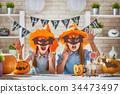 kids at halloween 34473497