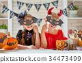 kids at halloween 34473499